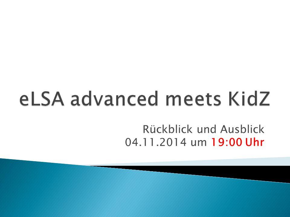 Rückblick und Ausblick 04.11.2014 um 19:00 Uhr
