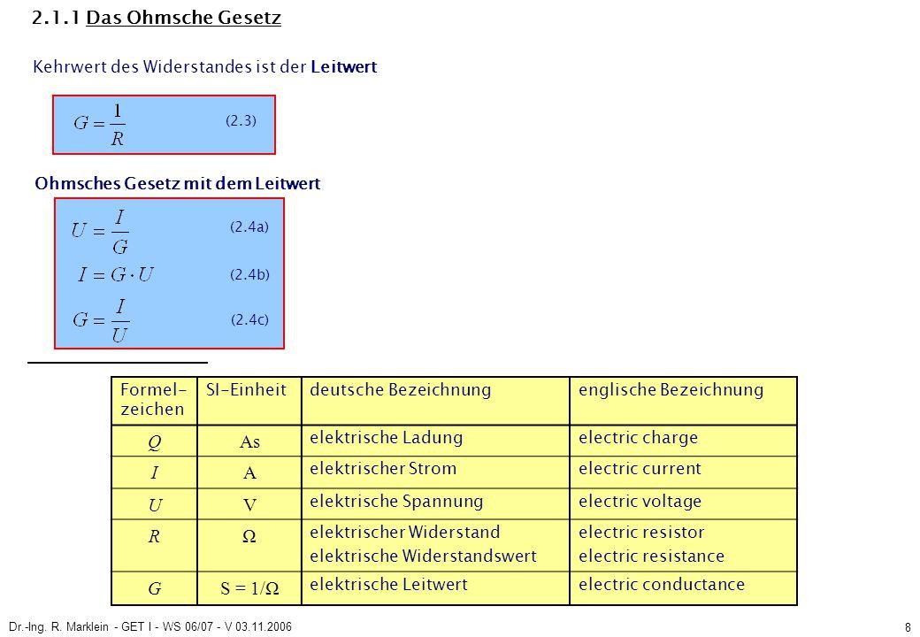 Dr.-Ing.R. Marklein - GET I - WS 06/07 - V 03.11.2006 19 2.1.3 Umlaufgleichung (2.