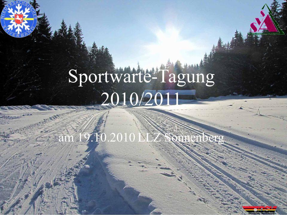 Sportwarte-Tagung 2010/2011 am 19.10.2010 LLZ Sonnenberg
