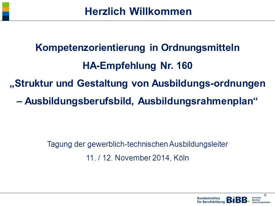 ® Kompetenzorientierung in Ordnungsmitteln HA-Empfehlung Nr.