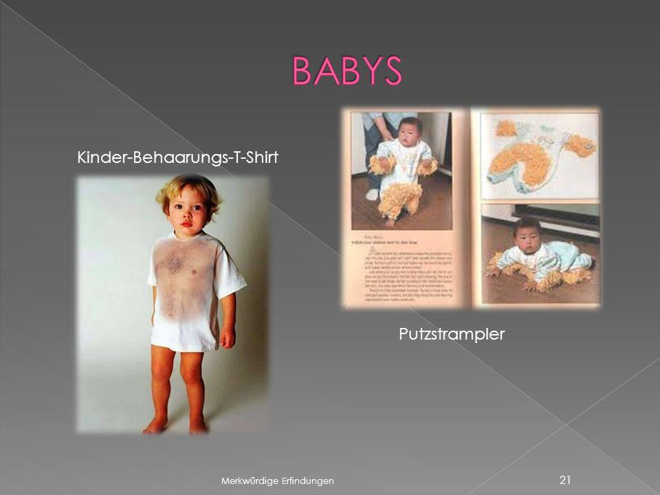 Merkwürdige Erfindungen 21 Kinder-Behaarungs-T-Shirt Putzstrampler