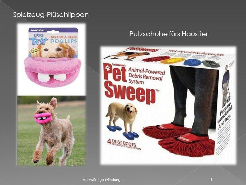 Merkwürdige Erfindungen 3 Spielzeug-Plüschlippen Putzschuhe fürs Haustier