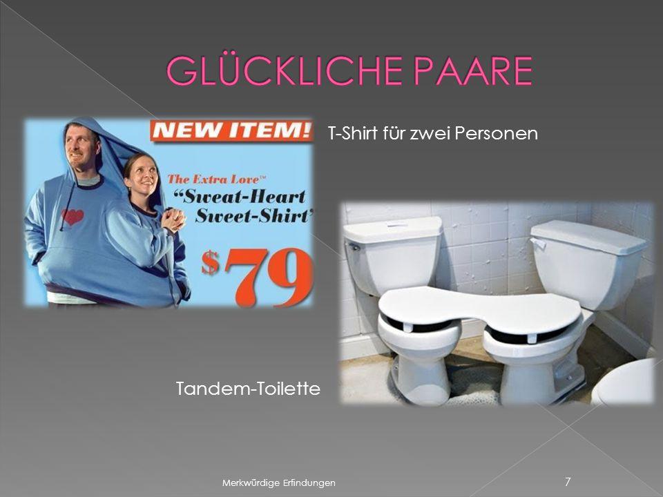 Merkwürdige Erfindungen 7 T-Shirt für zwei Personen Tandem-Toilette