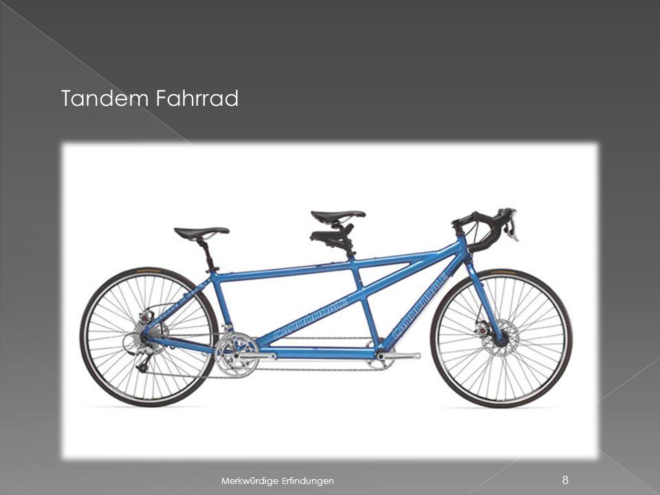 Merkwürdige Erfindungen 8 Tandem Fahrrad