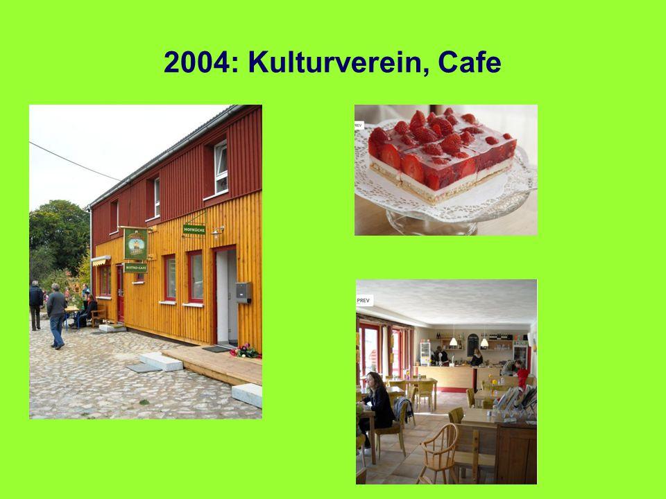 2004: Kulturverein, Cafe