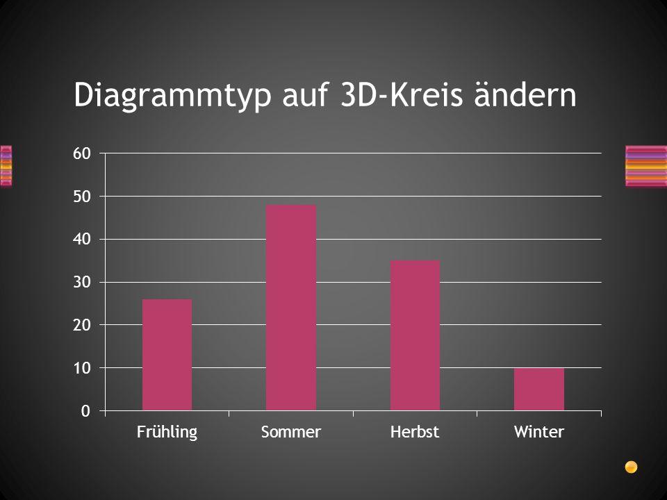 Diagrammtyp auf 3D-Kreis ändern