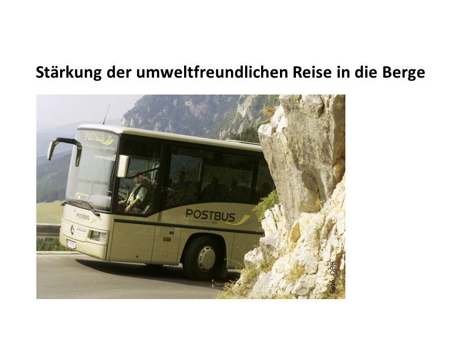 Stärkung der umweltfreundlichen Reise in die Berge Foto: ÖBB