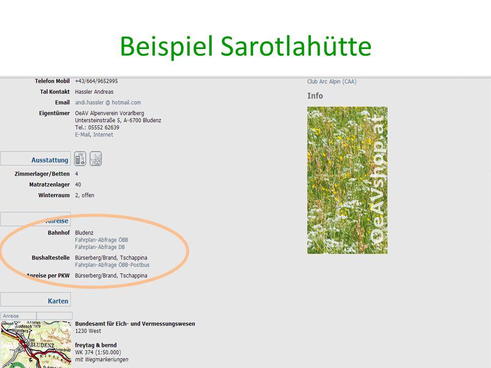 Beispiel Sarotlahütte