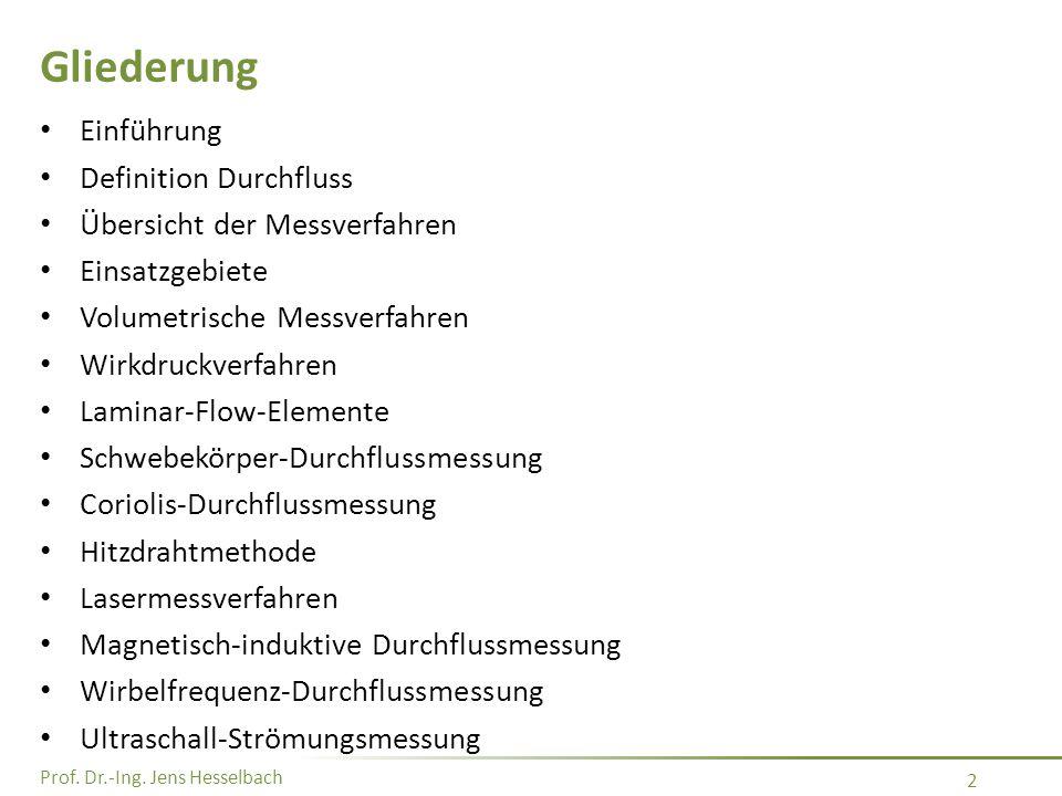 Prof. Dr.-Ing. Jens Hesselbach 23 Ringkolbenzähler