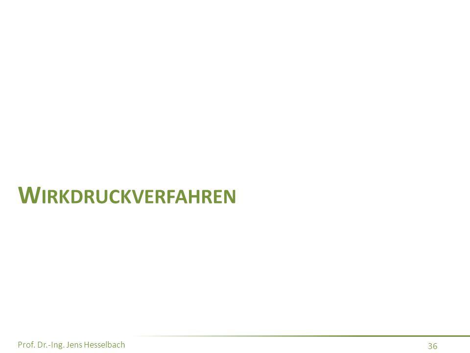 Prof. Dr.-Ing. Jens Hesselbach 36 W IRKDRUCKVERFAHREN