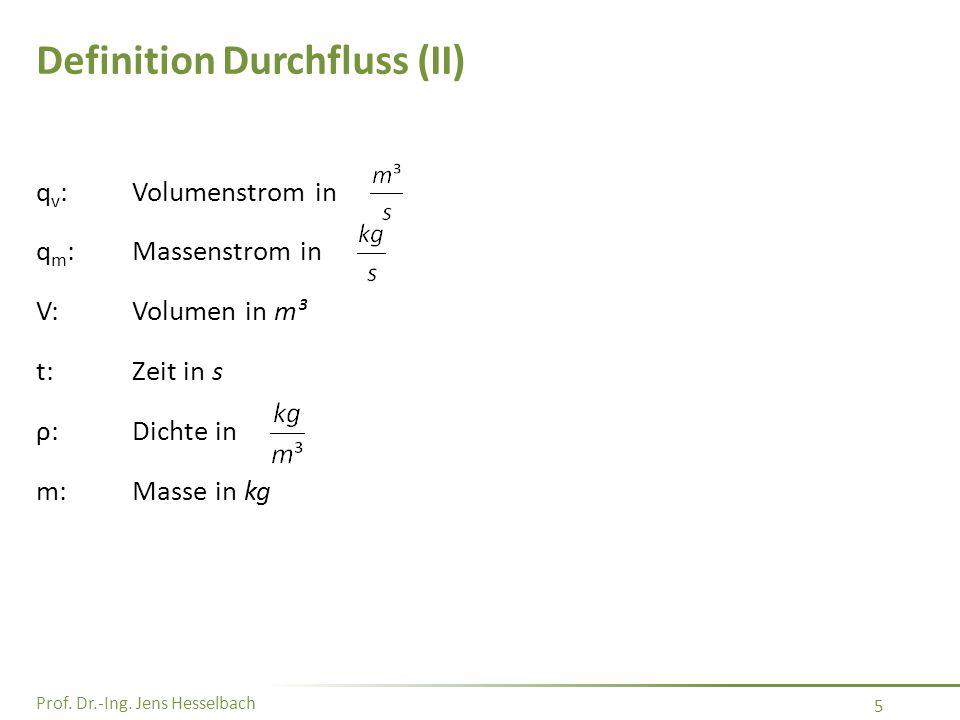 Prof. Dr.-Ing. Jens Hesselbach 76 Druckverlauf in einer Kapillare