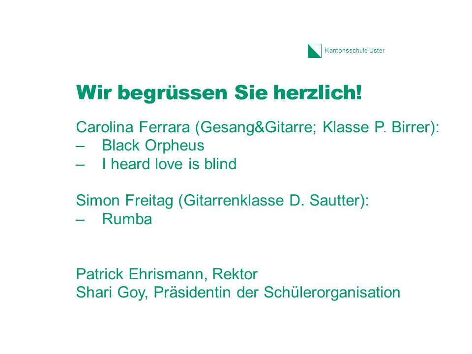 Kantonsschule Uster Ergänzungsfachangebot Vertiefungen in der 6.