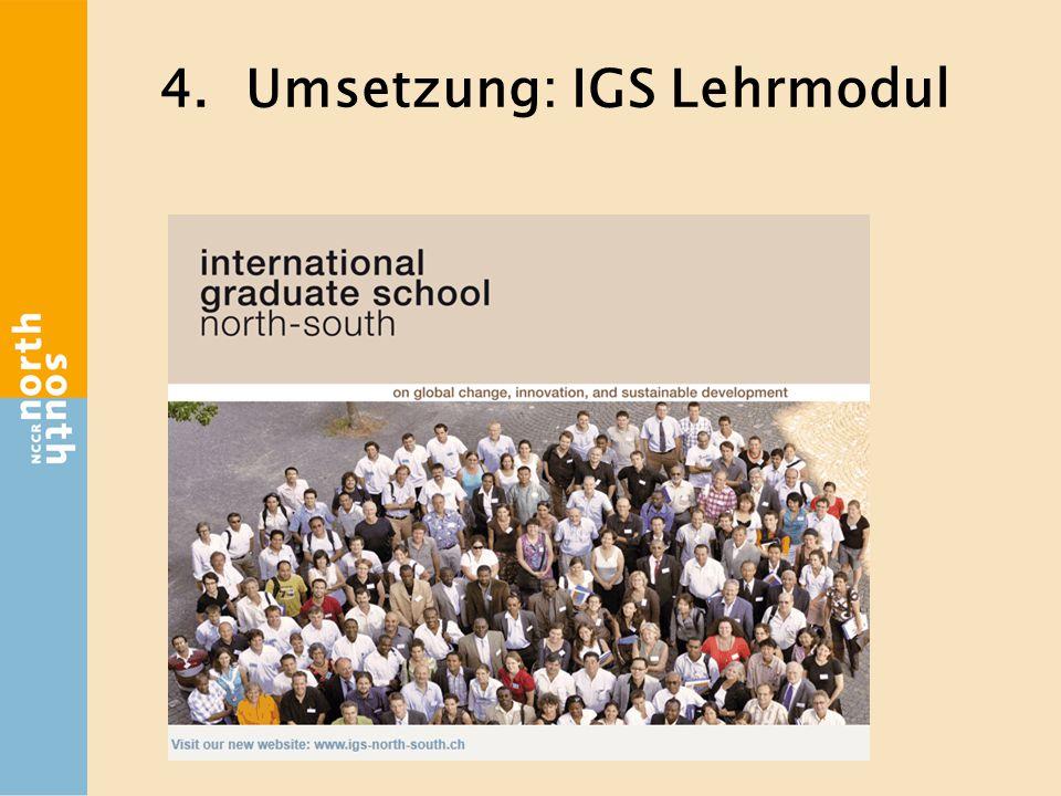 4.Umsetzung: IGS Lehrmodul