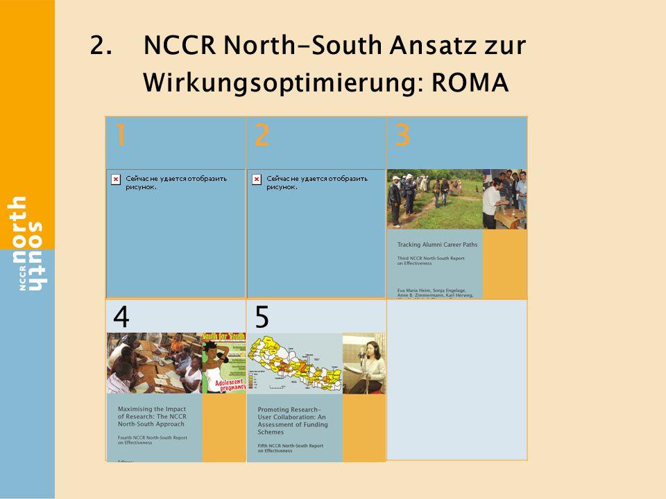 2.NCCR North-South Ansatz zur Wirkungsoptimierung: ROMA 123 45