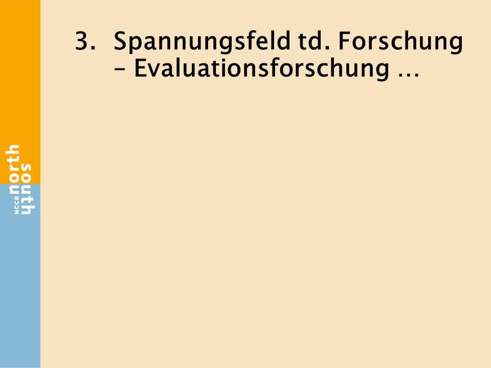 3.Spannungsfeld td. Forschung – Evaluationsforschung …