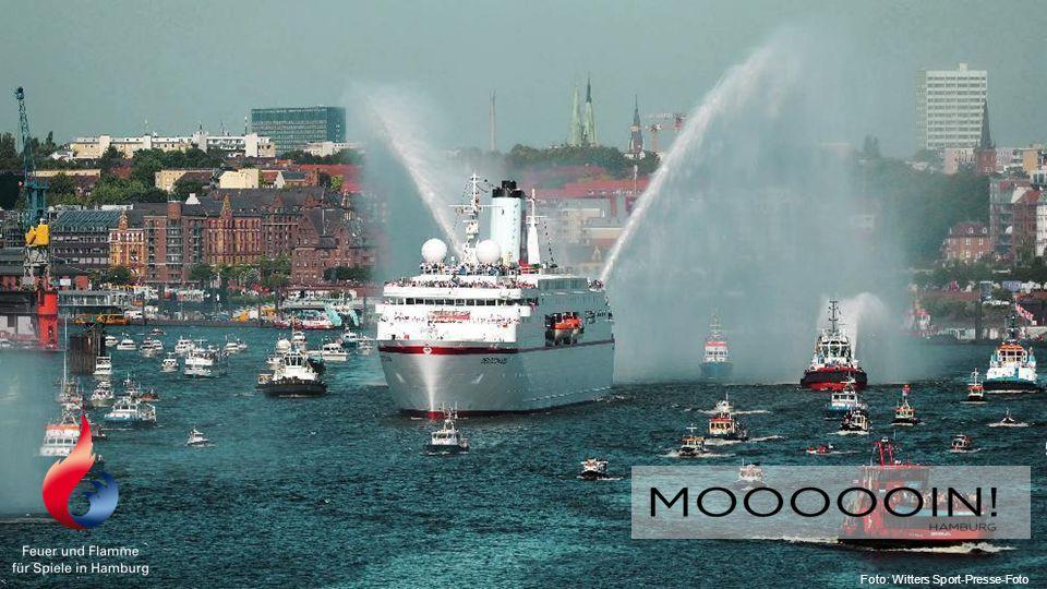 Weil… … Olympia die Begeisterung für den Sport in der Stadt steigert – ganz Hamburg wird zum Sportplatz.