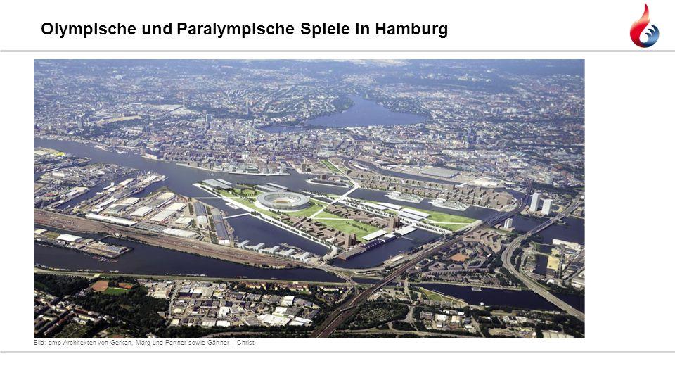 Olympische und Paralympische Spiele in Hamburg Bild: gmp-Architekten von Gerkan, Marg und Partner sowie Gärtner + Christ