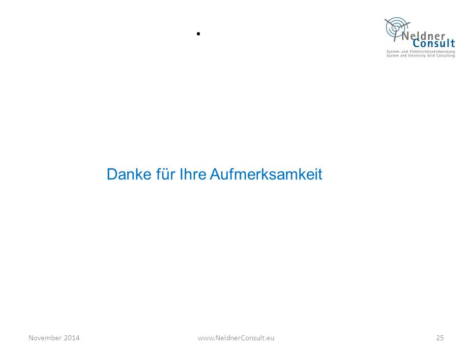 . Danke für Ihre Aufmerksamkeit November 201425www.NeldnerConsult.eu
