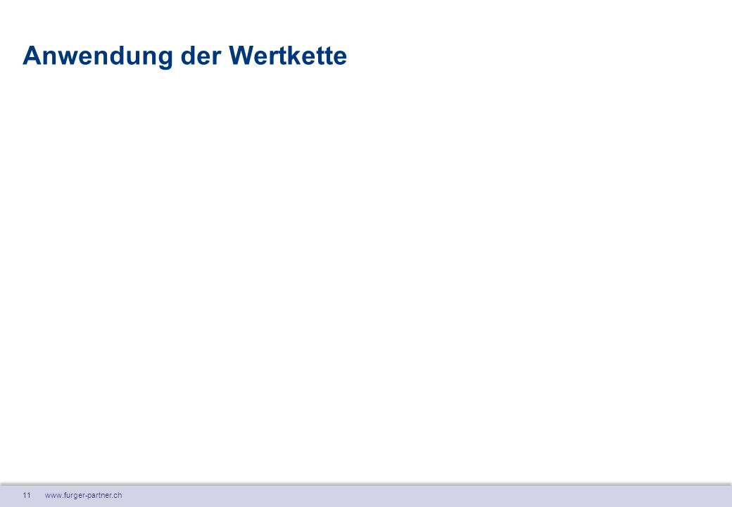 11 www.furger-partner.ch Anwendung der Wertkette