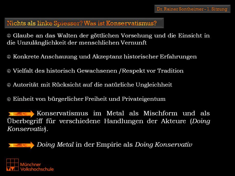 Dr. Rainer Sontheimer - 1. Sitzung Glaube an das Walten der göttlichen Vorsehung und die Einsicht in die Unzulänglichkeit der menschlichen Vernunft Ko