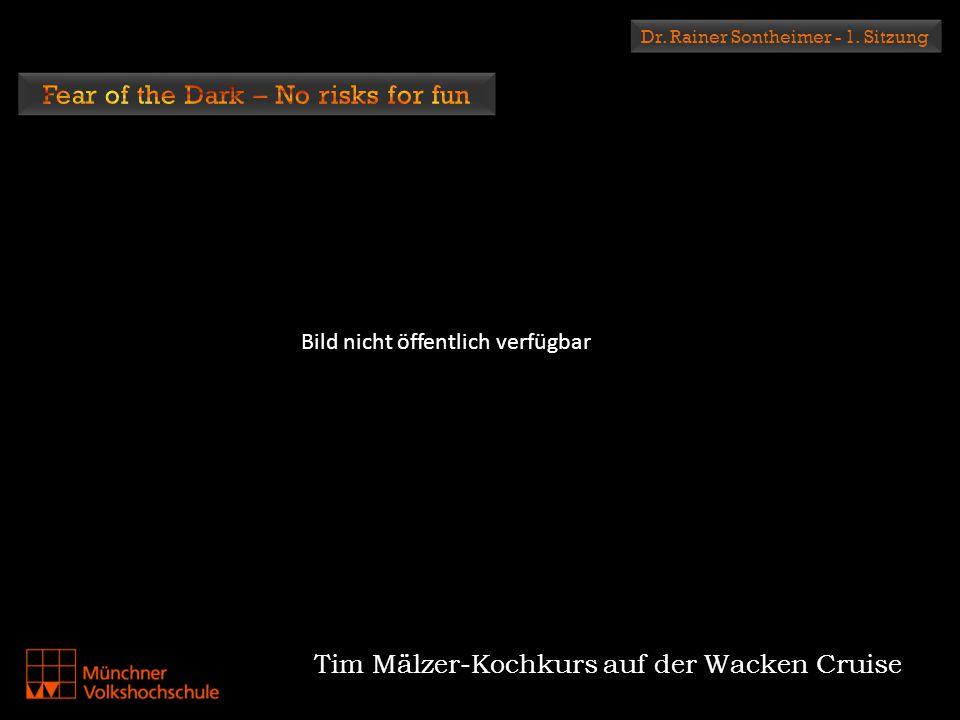 Dr. Rainer Sontheimer - 1. Sitzung Tim Mälzer-Kochkurs auf der Wacken Cruise Bild nicht öffentlich verfügbar