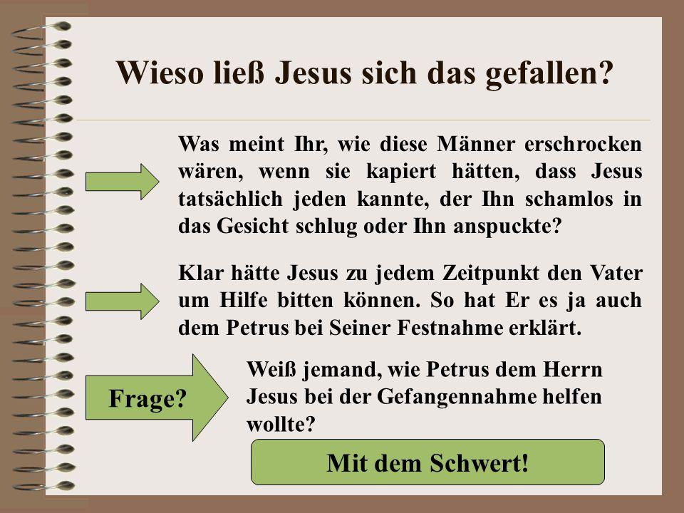Wieso ließ Jesus sich das gefallen.