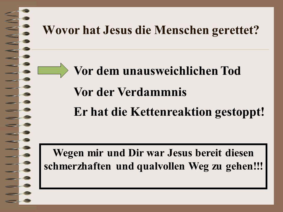 Wovor hat Jesus die Menschen gerettet.