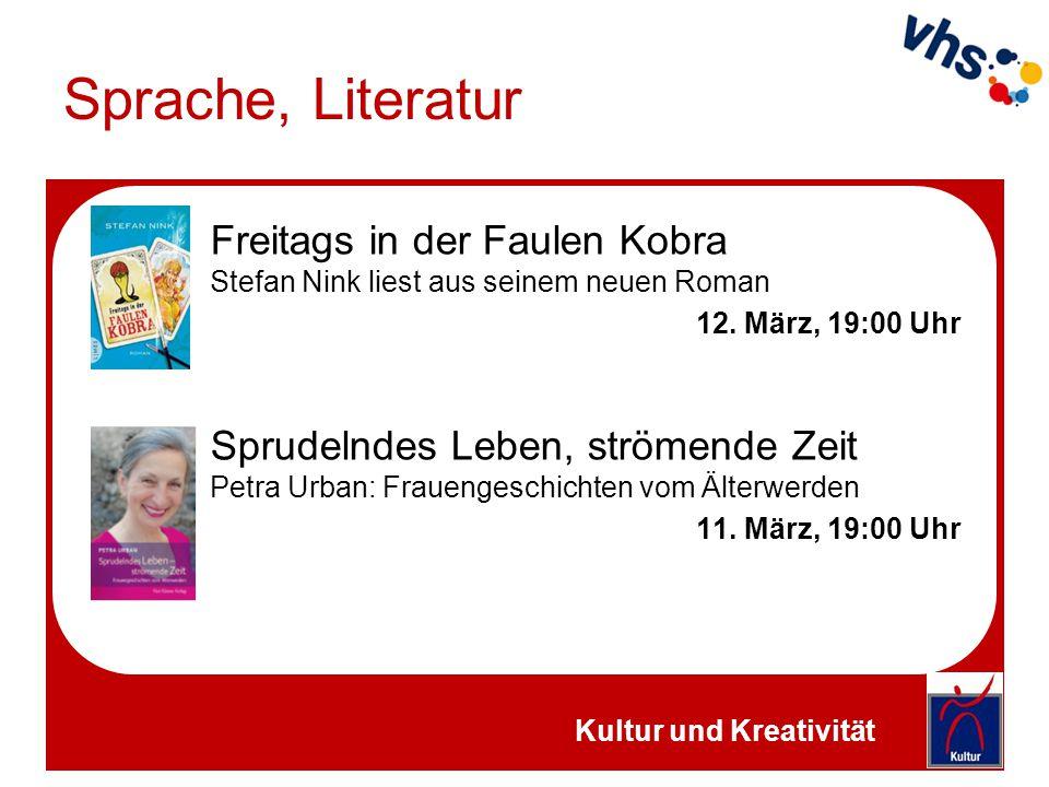 Sprache, Literatur Semestereröffnung Vortrag mit Friedrich Ernst von Garnier 31.