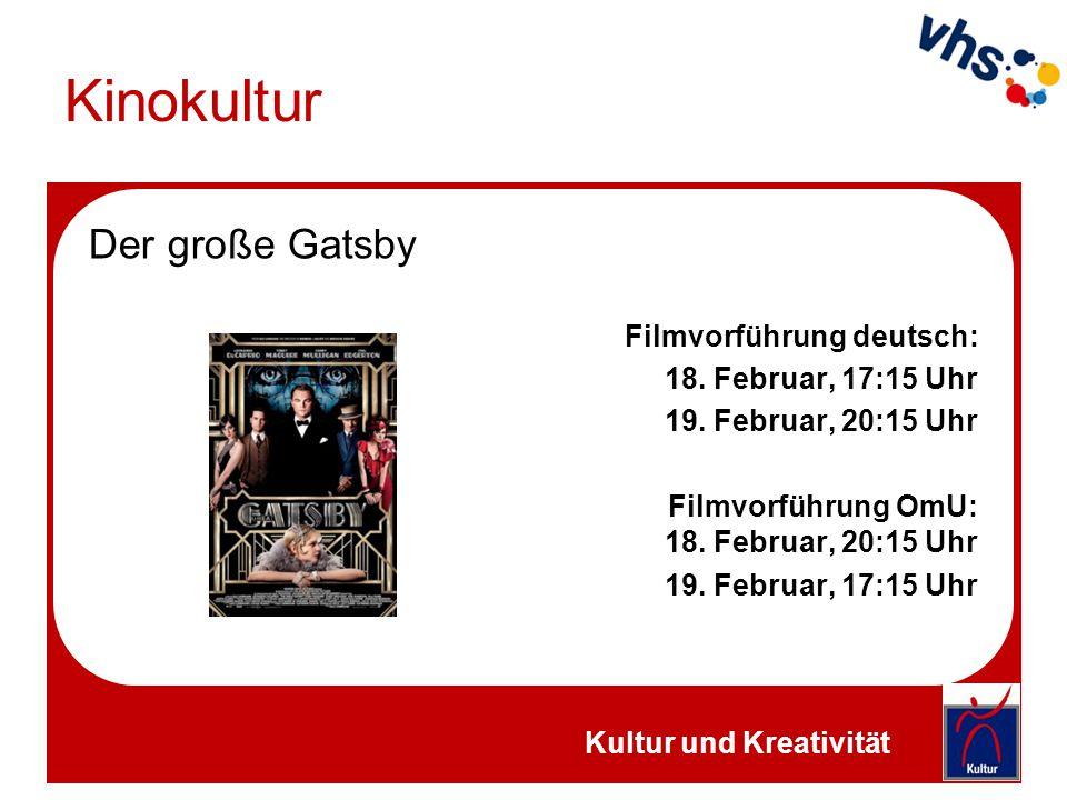 Kinokultur Mademoiselle Filmvorführung deutsch: 17.