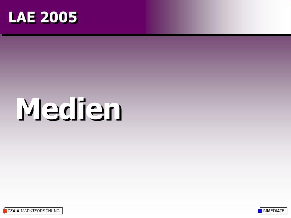CZAIA MARKTFORSCHUNG Medien IMMEDIATE LAE 2005