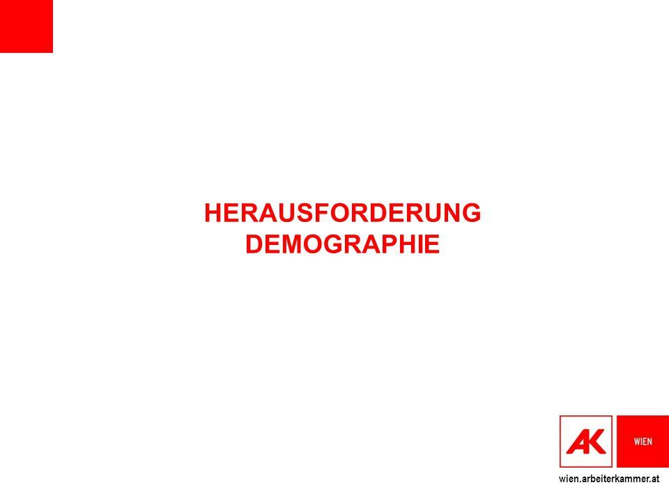 wien.arbeiterkammer.at HERAUSFORDERUNG DEMOGRAPHIE