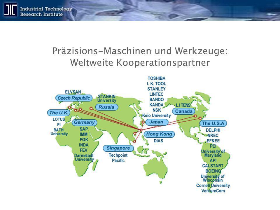 Präzisions-Maschinen und Werkzeuge: Weltweite Kooperationspartner