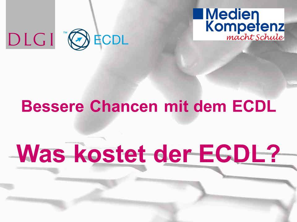 Was kostet der ECDL? Bessere Chancen mit dem ECDL