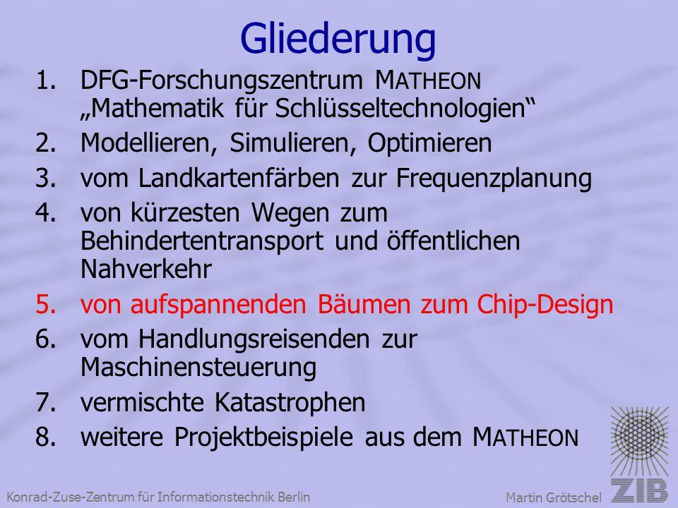 """Konrad-Zuse-Zentrum für Informationstechnik Berlin Martin Grötschel Gliederung 1.DFG-Forschungszentrum M ATHEON """"Mathematik für Schlüsseltechnologien"""""""