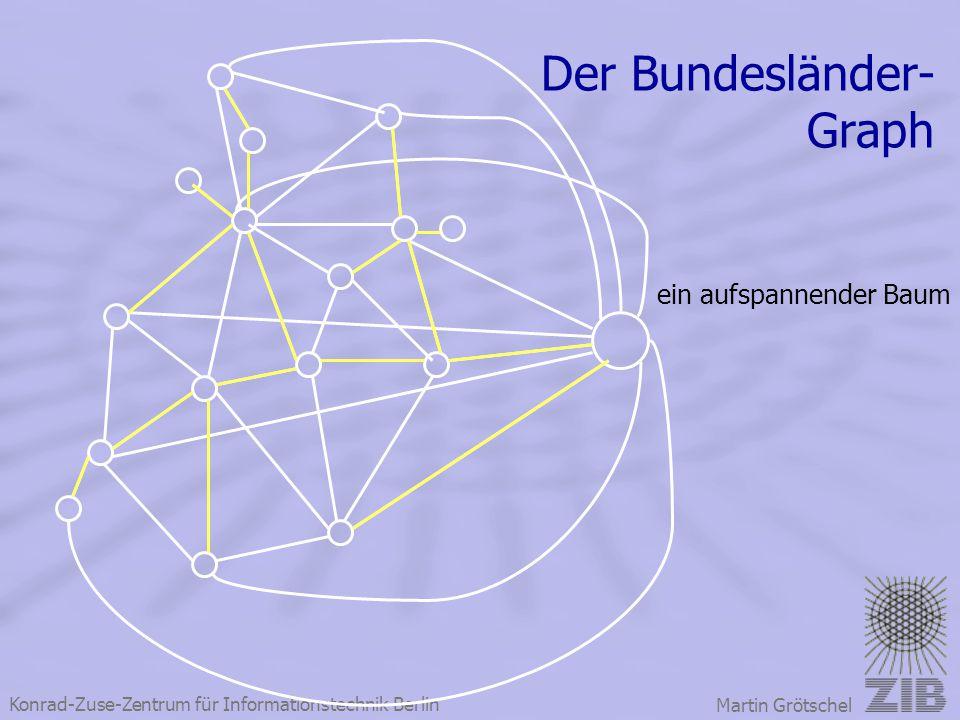 Konrad-Zuse-Zentrum für Informationstechnik Berlin Martin Grötschel Der Bundesländer- Graph ein aufspannender Baum