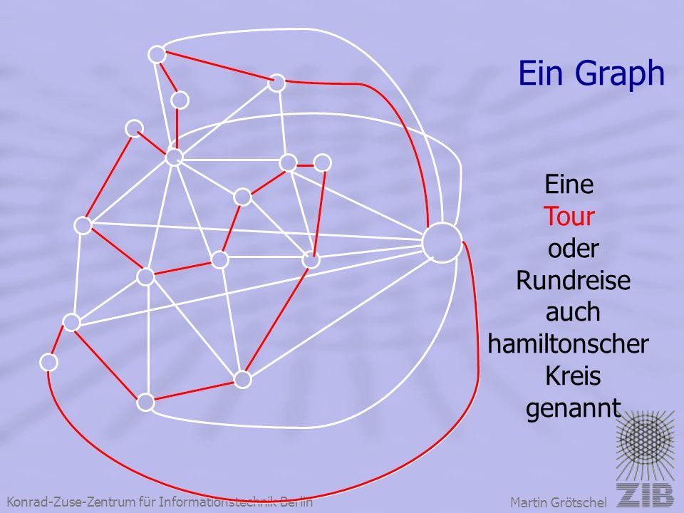 Konrad-Zuse-Zentrum für Informationstechnik Berlin Martin Grötschel Ein Graph Eine Tour oder Rundreise auch hamiltonscher Kreis genannt