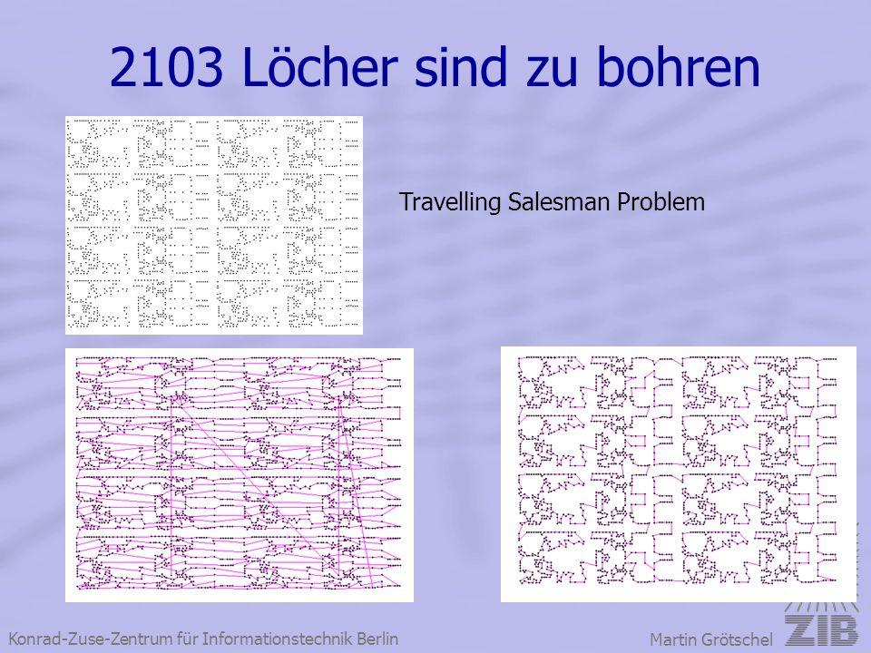 Konrad-Zuse-Zentrum für Informationstechnik Berlin Martin Grötschel 2103 Löcher sind zu bohren Travelling Salesman Problem