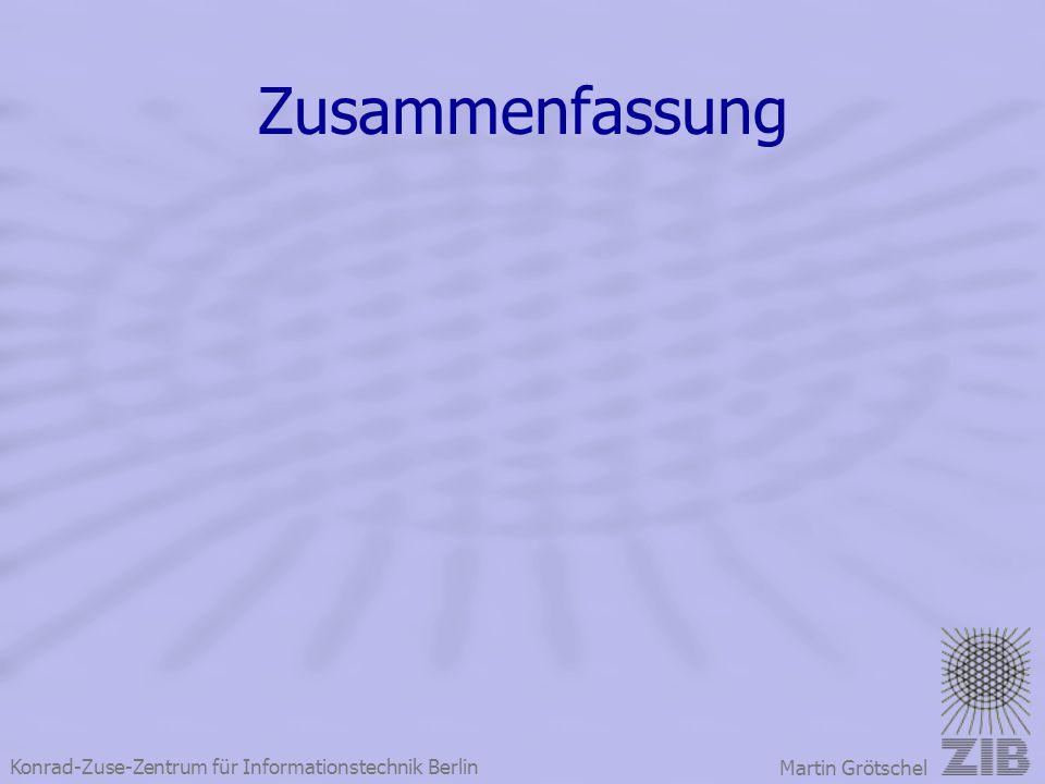Konrad-Zuse-Zentrum für Informationstechnik Berlin Martin Grötschel Zusammenfassung