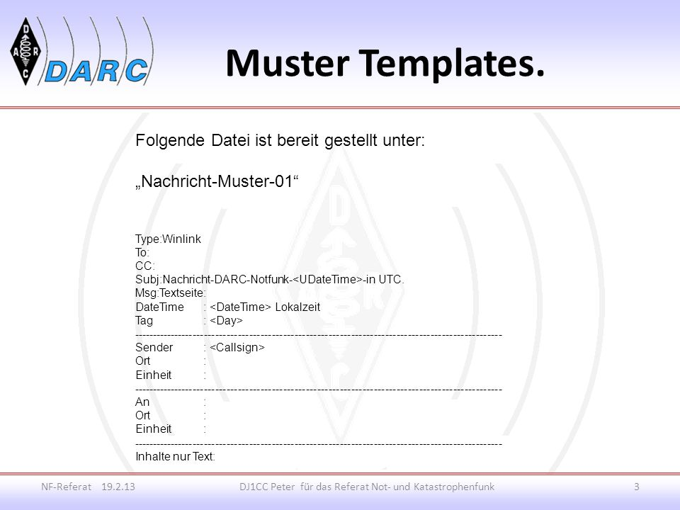 Muster Templates.