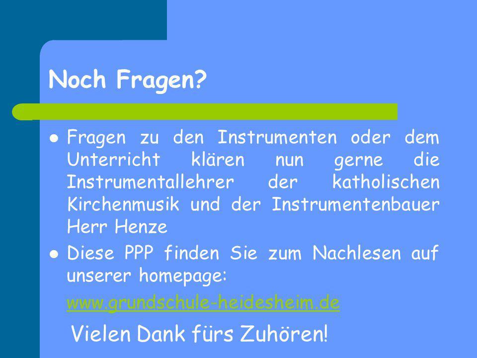 Noch Fragen? Fragen zu den Instrumenten oder dem Unterricht klären nun gerne die Instrumentallehrer der katholischen Kirchenmusik und der Instrumenten