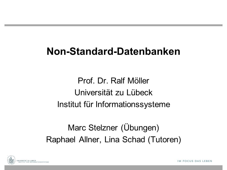 Non-Standard-Datenbanken Prof.Dr.