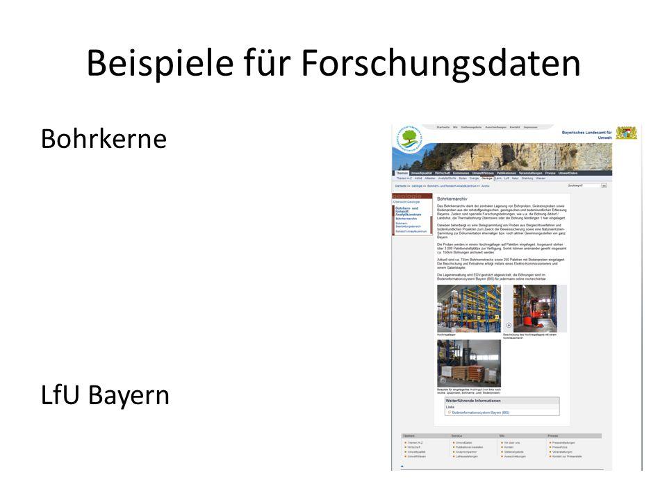 Bohrkerne LfU Bayern