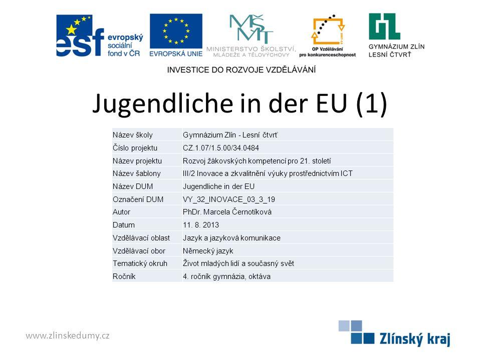 Arbeitslose Jugendliche in der EU