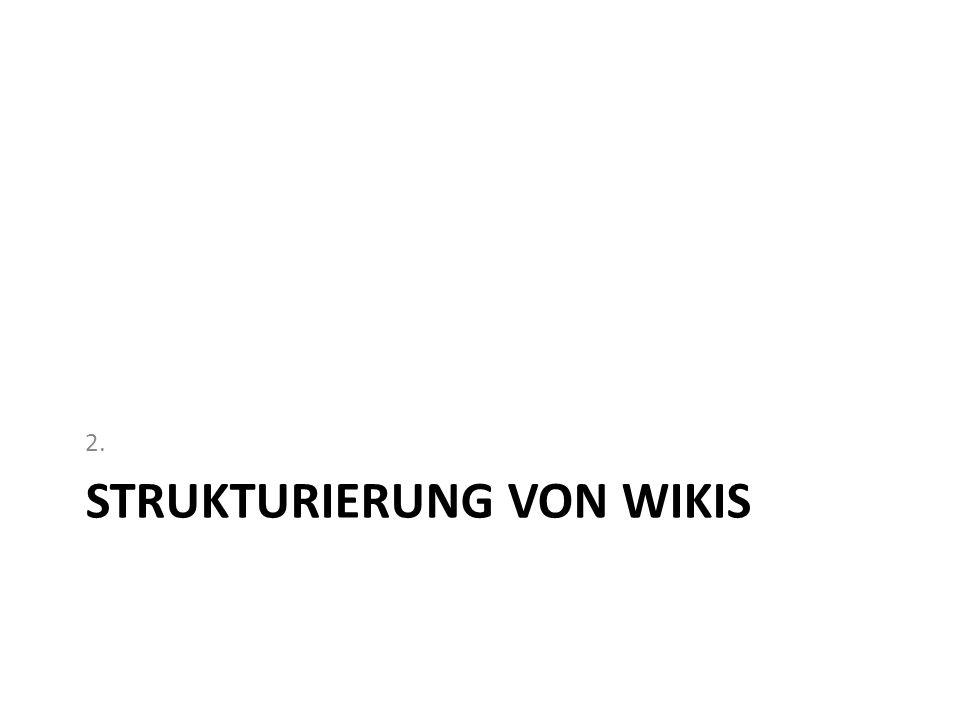 STRUKTURIERUNG VON WIKIS 2.