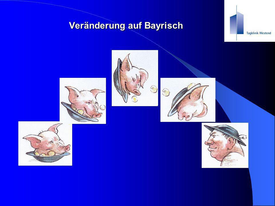Veränderung auf Bayrisch