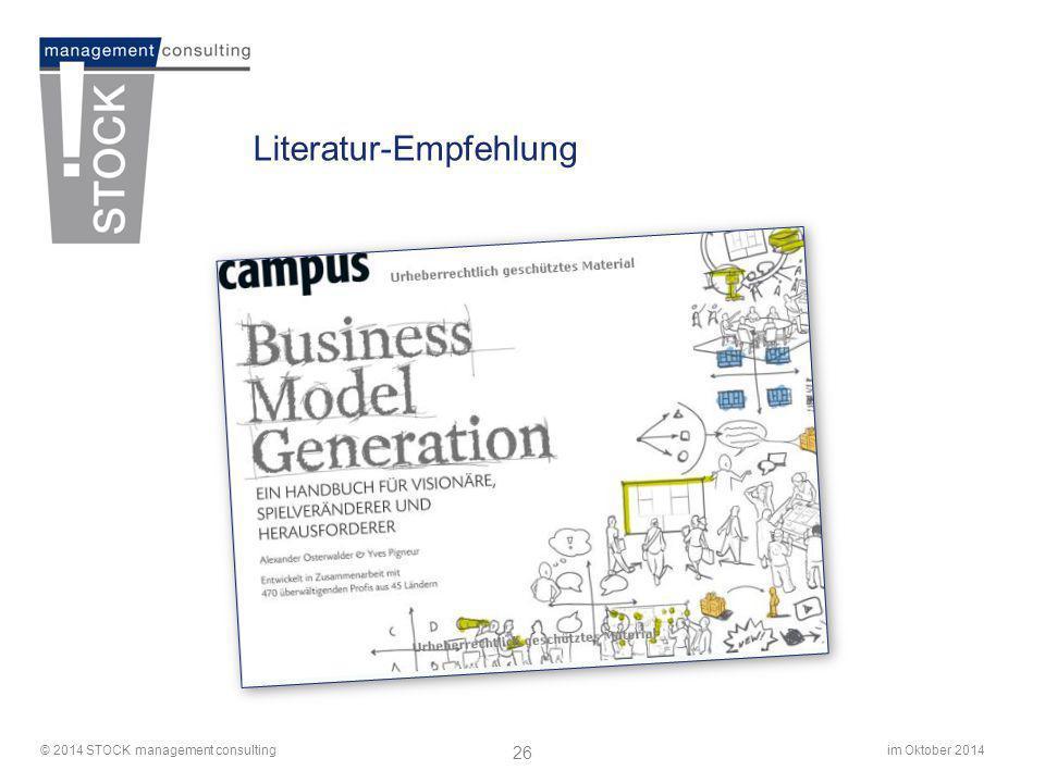 im Oktober 2014© 2014 STOCK management consulting 26 Literatur-Empfehlung