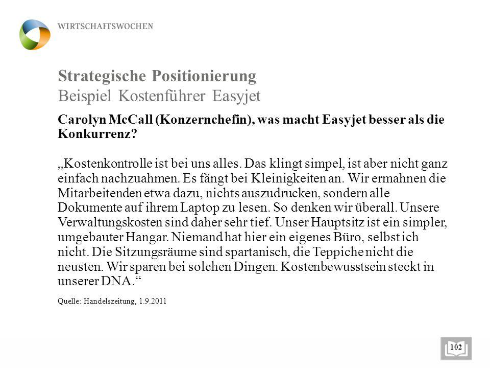 Strategische Positionierung Carolyn McCall (Konzernchefin), was macht Easyjet besser als die Konkurrenz.