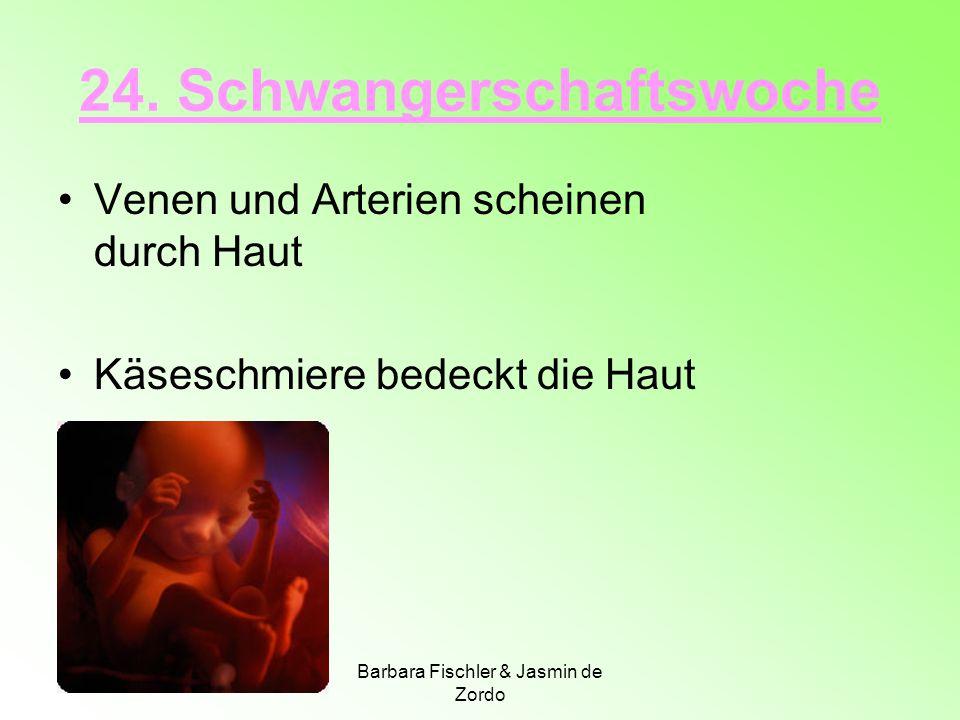 Barbara Fischler & Jasmin de Zordo 24. Schwangerschaftswoche Venen und Arterien scheinen durch Haut Käseschmiere bedeckt die Haut
