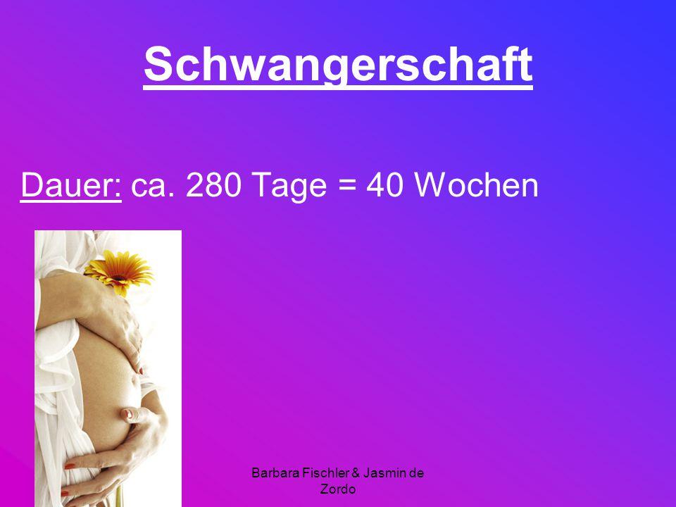 Barbara Fischler & Jasmin de Zordo Schwangerschaft Dauer: ca. 280 Tage = 40 Wochen