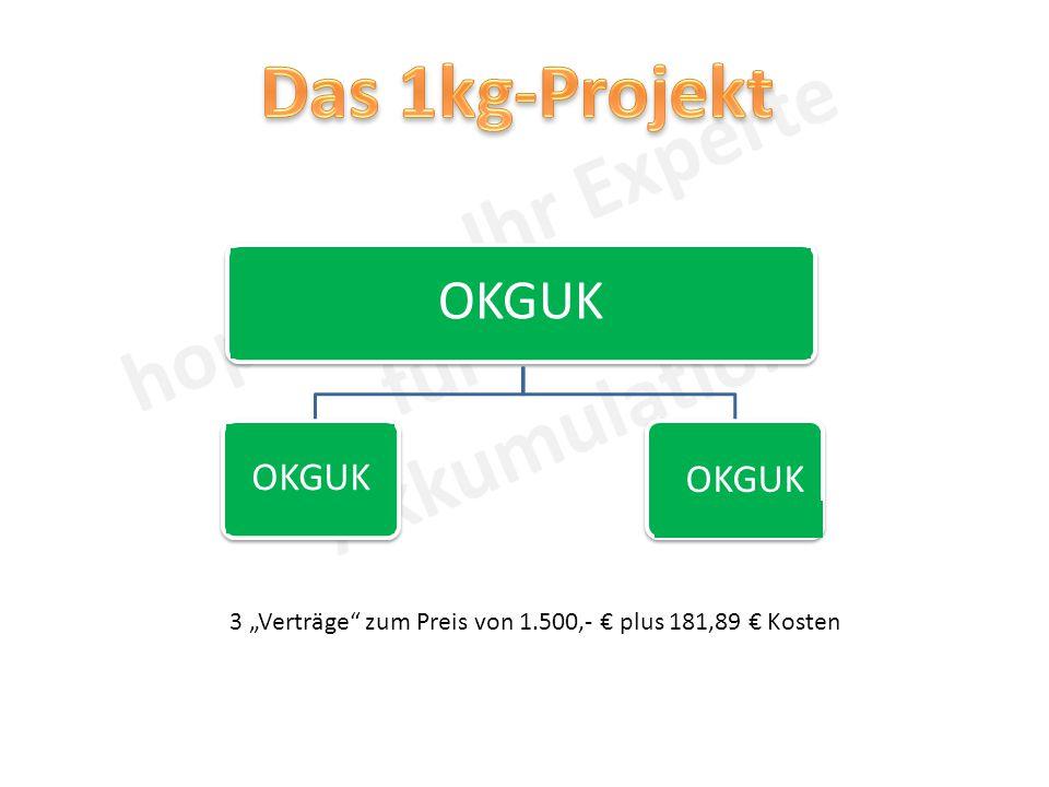 """OKGUK 3 """"Verträge zum Preis von 1.500,- € plus 181,89 € Kosten"""